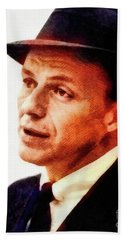 Frank Sinatra, Vintage Hollywood Legend Beach Towel