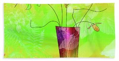 Garden Vase Beach Towel by Iris Gelbart