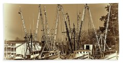 Georgetown Shrimpers Beach Towel by Bill Barber