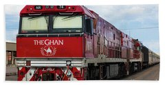 ghan at Alice Springs Beach Towel