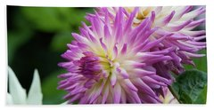 Golden Gate Park Dahlia Beach Towel
