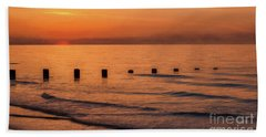 Beach Towel featuring the photograph Golden Sunset by Adrian Evans