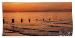 Beach Sheet featuring the photograph Golden Sunset by Adrian Evans
