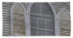Gothic Window Beach Towel