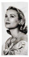 Grace Kelly, Vintage Hollywood Actress Beach Sheet by John Springfield