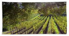 Grapevines In The Fall Beach Towel