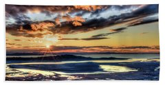 Great Salt Lake Sunset Beach Towel