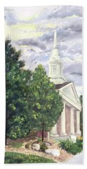 Beach Towel featuring the painting Hale Street Chapel by Jane Autry