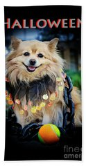 Halloween Dog Beach Towel by Charline Xia