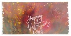 Happy Valentines Day  Beach Sheet