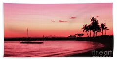Hawaiian Sunset Beach Towel by Kristine Merc