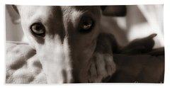 Heart You Italian Greyhound Beach Sheet