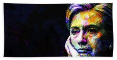 Hillary Clinton Beach Sheet by Svelby Art