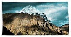 Holy Kailas East Slop Himalayas Tibet Yantra.lv Beach Towel