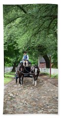 Horse Drawn Wagon Beach Towel