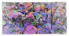 Hydrangea Beach Sheet by Ann Johndro-Collins