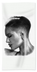 Halsey Drawing By Sofia Furniel Beach Towel
