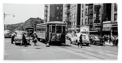 Beach Towel featuring the photograph Inwood Trolley  by Cole Thompson