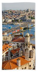 Istanbul Cityscape Beach Sheet