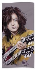 Jimmy Page 1 Beach Towel
