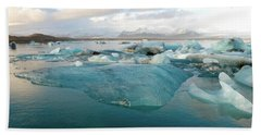 Jokulsarlon The Glacier Lagoon, Iceland 2 Beach Sheet