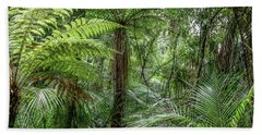 Beach Towel featuring the photograph Jungle Ferns by Les Cunliffe