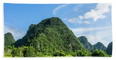 Karst Mountains Scenery Beach Towel
