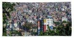 Kathmandu City In Nepal Beach Towel