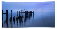 Colorful Overcast At Twilight Beach Towel