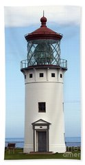 Kilauea Lighthouse On Kauai Beach Towel