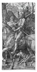 Knight Death And The Devil Beach Towel