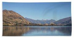 Lake Wanaka In New Zealand Beach Towel