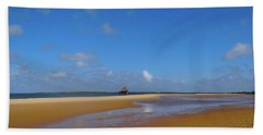 Lamu Island - Wooden Fishing Dhow - Colour Beach Towel