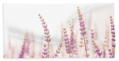 Lavender Flower In The Garden,park,backyard,meadow Blossom In Th Beach Towel