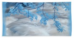 Leaves Over Gossamer Waters Beach Towel