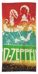 Led Zeppelin  Beach Sheet by FHT Designs