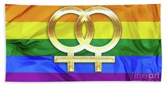 Lesbian Symbols Beach Towel