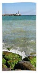 Lighthouse In Sea Beach Sheet
