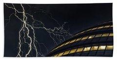 Lightning Strike Beach Towel