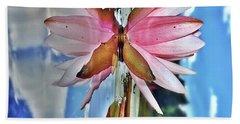 Lily Pad Reflection Beach Sheet