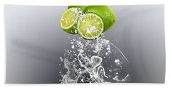 Lime Splash Beach Towel