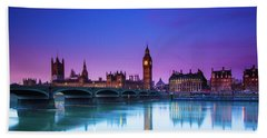 London Big Ben  Beach Towel