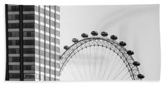 London Eye Beach Towel by Joana Kruse