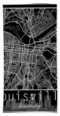 Louisville Kentucky City Map 6 Beach Towel
