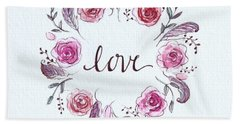 Beach Sheet featuring the painting Love by Elizabeth Robinette Tyndall
