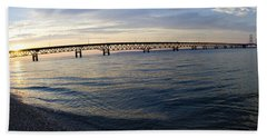 Mackinac Bridge Beach Towel by Tara Lynn