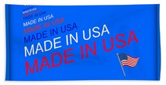 Made In Usa Beach Towel