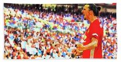 Manchester United's Zlatan Ibrahimovic Celebrates Beach Sheet by Don Kuing