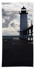 Manistee Pierhead Lighthouse-3 Beach Towel