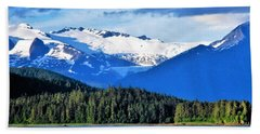 Mendenhall Glacier Park Beach Towel by Martin Cline
